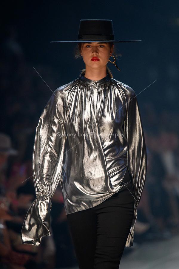 7 March 2018, Melbourne - Models showcase designs by Carla Zampatti during the Runway 3 show presented by Harper's Bazaar at the 2018 Virgin Australia Melbourne Fashion Festival in Melbourne, Australia. (Photo Sydney Low / asteriskimages.com)