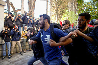 2018 03 30 Protest by teachers leads to clashes against riot police, Athens, Greece