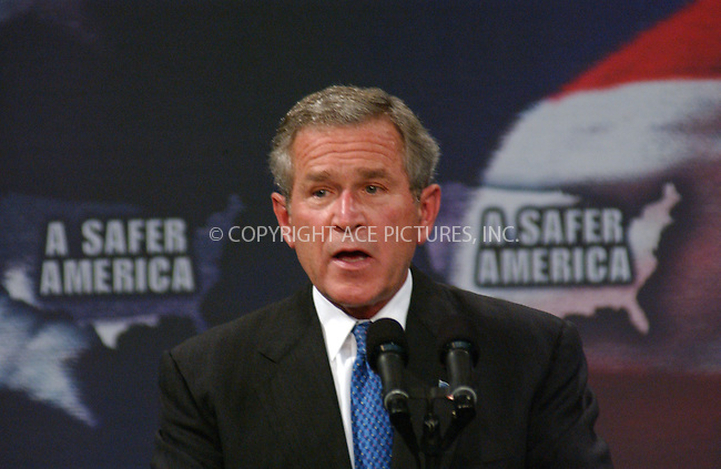 WWW.ACEPIXS.COM . . . . . ..NEW JERSEY, OCTOBER 18, 2004: President George W. Bush on his campaign trail at Evesham Recreational Center in Marlton, New Jersey. Please byline: DAISY STONE - ACE PICTURES.. . . . . . ..Ace Pictures, Inc:  ..Alecsey Boldeskul (646) 267-6913 ..Philip Vaughan (646) 769-0430..e-mail: info@acepixs.com..web: http://www.acepixs.com