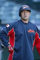 Nobuhiko Matsunaka of Japan during World Baseball Championship at Angel Stadium in Anaheim,California on March 15, 2006. Photo by Larry Goren/Four Seam Images