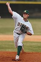 March 17, 2010:  Pitcher Luke Anderson (35) of North Dakota State University Bison vs. Long Island University at Lake Myrtle Park in Auburndale, FL.  Photo By Mike Janes/Four Seam Images