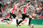 Athletic de Bilbao's Markel Susaeta (l) and Aritz Aduriz during La Liga match. August 28,2016. (ALTERPHOTOS/Acero)
