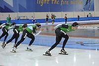 SCHAATSEN: SALT LAKE CITY: Utah Olympic Oval, 12-11-2013, Essent ISU World Cup, training, Koen Verweij, Sven Kramer, ©foto Martin de Jong