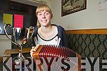 Bringing home the silver wear was Shauna Lane from Brosna, who won the u18 title in the Melodeon in Derry at the All Ireland Fleadh Ceoil