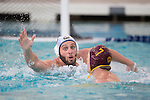 BERKELEY, CA - DECEMBER 04:  Odysseas Masmanidis of the University of California at Berkeley defends Thomas Dunstan (7) of the University of Southern California during the Division I Men's Water Polo Championship held at the Spieker Aquatics Complex on December 04, 2016 in Berkeley, California.  Cal defeated USC 11-8 for the national title. (Photo by Justin Tafoya/NCAA Photos via Getty Images)