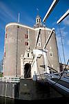 Drommedaris defence tower and bridge, Enkhuizen, Netherlands