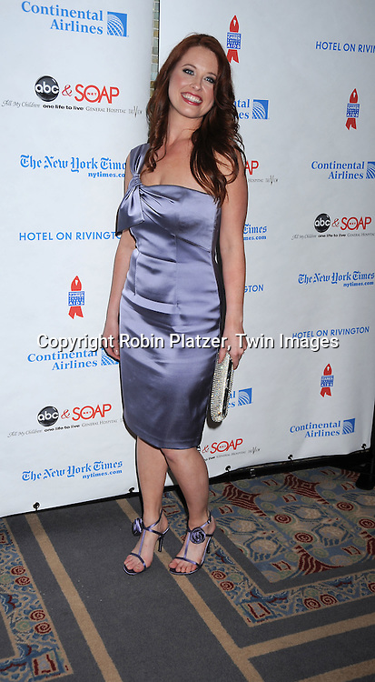 actress Melissa Archer of One Life to Live attending The 6th Annual ABC And SOAPnet salute to BROADWAY CARES/ EQUITY FIGHTS AIDS Benefit post party on March 21, 2010 at The Marriott Marquis Hotel in New York City.