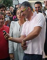 Manifestazione  di Forza Italia<br /> nella foto    Francesca Pascale selfie con ammiratori
