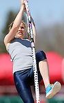 SIOUX FALLS, SD - MAY 2:  Emily Grove, jumping unattached, from eyes the bar in the pole vault Friday afternoon at the Howard Wood Dakota Relays. (Photo by Dave Eggen/Inertia)