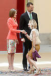 King Felipe IV of Spain and Queen of Spain Letizia with Maria Eugenia Martinez de Irujo and Fitz-James Stuart, Duchess of Montoro during the commemoration of the bicentennial of the Delegation of the Greatness of Spain. June 16,2015. (ALTERPHOTOS/Acero)