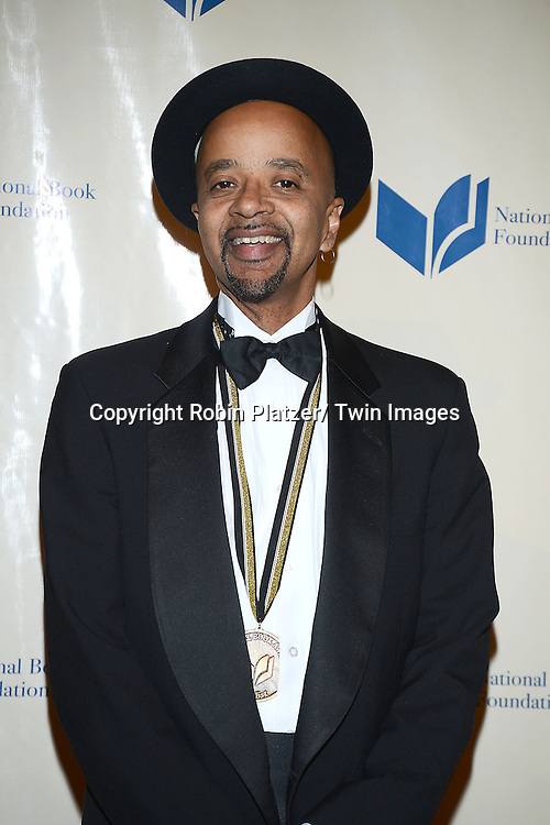 winner for fiction James McBride  attends  the 2013 National Book Awards Dinner and Ceremony on November 20, 2013 at Cipriani Wall Street in New York City.