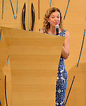 PEMBROKE PINES, FL - OCTORBER 23: Debbie Wasserman Schultz, U.S. Representative for Florida (D) speak at Century Pines Jewish Center before Former President Bill Clinton three stop as part of his South Florida bus tour on Sunday October 23, 2016 in Pembroke Pines, Florida. ( Photo by Johnny Louis / jlnphotography.com )