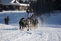 Jeff King, 2017 Iditarod sled dog race restart in Fairbanks, Alaska.