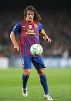FUSSBALL  CHAMPIONS LEAGUE  VIERTELFINAL RUECKSPIEL   2011/2012      FC Barcelona - AC Mailand           03.04.2012 Carles Puyol (Barca)