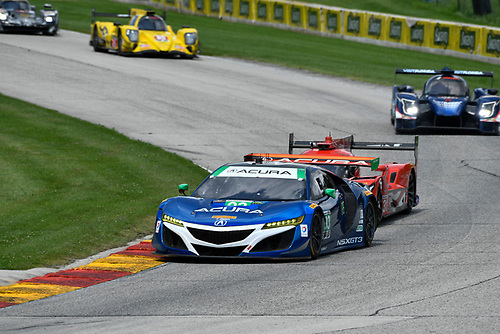 IMSA WeatherTech SportsCar Championship<br /> Continental Tire Road Race Showcase<br /> Road America, Elkhart Lake, WI USA<br /> Sunday 6 August 2017<br /> 93, Acura, Acura NSX, GTD, Andy Lally, Katherine Legge<br /> World Copyright: Richard Dole<br /> LAT Images<br /> ref: Digital Image RD_RA_2017_185