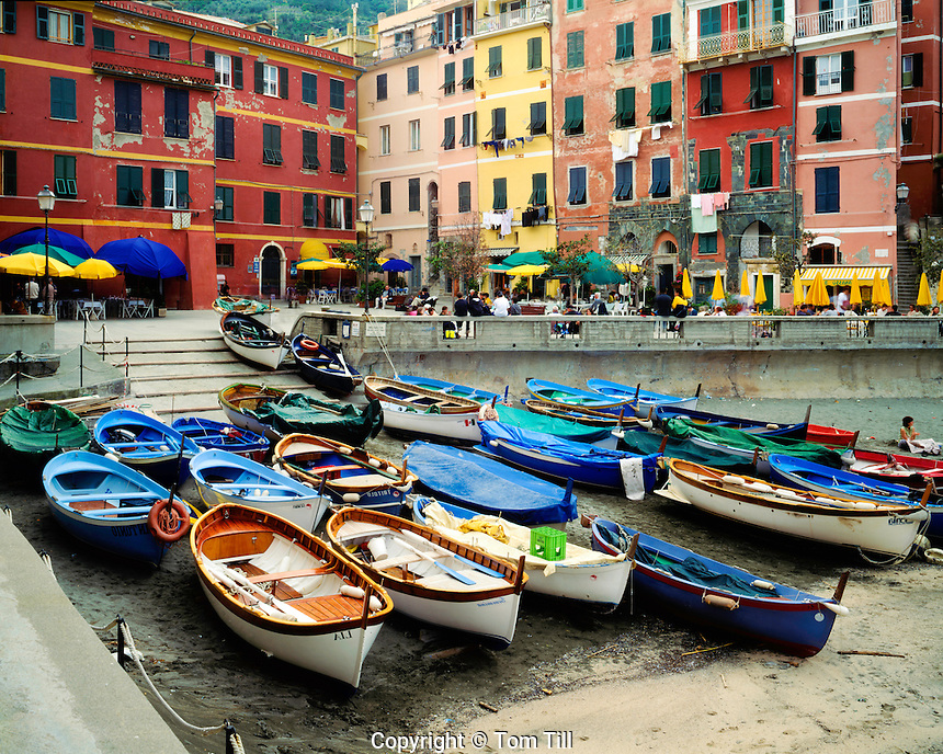 "Cliffside town of Vernazza, Cinque Terre National PArk, Italy, Italian Riviera, One of the ""five towns"" of the Cinque Terre"