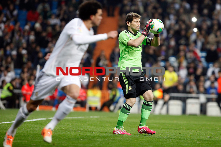 Real Madrid¬¥s Iker Casillas during a Copa del Rey soccer match between Real Madrid and Olimpic de Xativa at Santiago Bernabeu Stadium in Madrid. December 18, 2013. Foto © nordphoto / Caro Marin) *** Local Caption ***