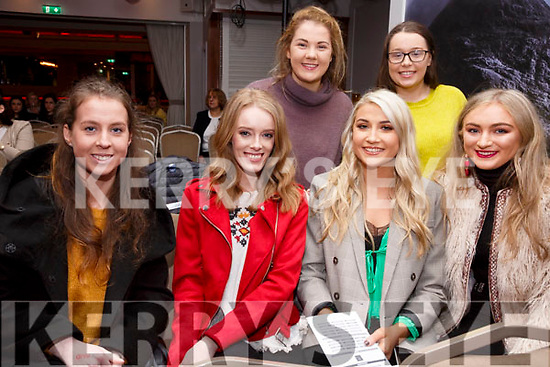 Pictured at the Waterville GAA Fundraiser on Saturday night in the Sea Lodger were front l-r; Danny Sheehan, Danielle O'Shea, Ellie Scanlon, Alanah O'Shea, back l-r; Poppy Hillis & Nikki Higgins.