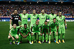 Juventus´s initial players before Champions League soccer match between Atletico de Madrid and Juventus at Vicente Calderon stadium in Madrid, Spain. October 01, 2014. (ALTERPHOTOS/Victor Blanco)