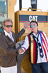 Oct 16 2014: Groundbreaking Ceremony for Siegfried & Roy Park which is the final stage of the Las Vegas Terminal 3 expansion as the Park is located in the buffer zone just north of McCarran International Airport Famed Illusionists Siegfried Fischbacher & Roy Horn were their to turn the dirt