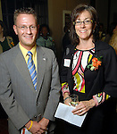 Shawn Stanton and Maureen Crocker at the Great Women in Government reception sponsored by the Girl Scouts of San Jancinto Council at the Julia Idelson Library Wednesday  Nov. 18,2009. (Dave Rossman/For the Chronicle)