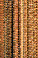 RUST<br /> Reinforcement bars<br /> Oxide of iron formed by corrosion, an electrochemical reaction.  In moist conditions iron is rapidly oxidized by oxygen to form rust, a mixture of iron oxides.