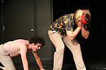 "Biz Ellis & Livia Scott in ""Dirty Jeans and Thunderchief"" at Sketchfest NYC, 2010. UCB Theatre"