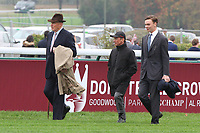 October 07, 2018, Longchamp, FRANCE - John Gosden and Frankie Dettori walk the Track prepairing for the Prix de l'Arc de Triomphe at ParisLongchamp Race Course  [Copyright (c) Sandra Scherning/Eclipse Sportswire)]