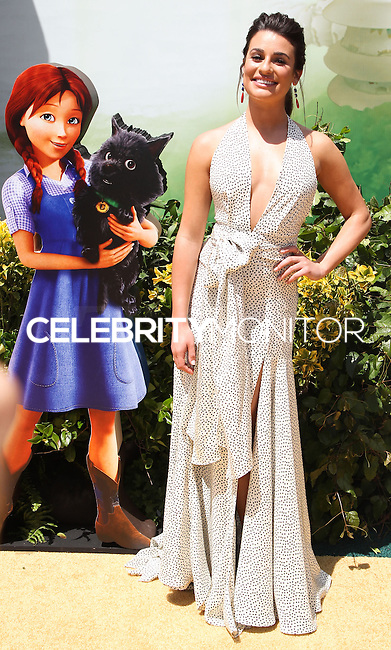 "WESTWOOD, LOS ANGELES, CA, USA - MAY 03: Lea Michele at the Los Angeles Premiere Of ""Legends Of Oz: Dorthy's Return"" held at the Regency Village Theatre on May 3, 2014 in Westwood, Los Angeles, California, United States. (Photo by Celebrity Monitor)"