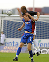 30/08/2008  Copyright Pic: James Stewart.File Name : sct_jspa02_falkirk_v_ict.LEE BULLEN GETS ABOVE ADAM ROONEY.James Stewart Photo Agency 19 Carronlea Drive, Falkirk. FK2 8DN      Vat Reg No. 607 6932 25.James Stewart Photo Agency 19 Carronlea Drive, Falkirk. FK2 8DN      Vat Reg No. 607 6932 25.Studio      : +44 (0)1324 611191 .Mobile      : +44 (0)7721 416997.E-mail  :  jim@jspa.co.uk.If you require further information then contact Jim Stewart on any of the numbers above........