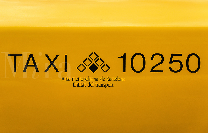 Taxi detail, Barcelona, Spain