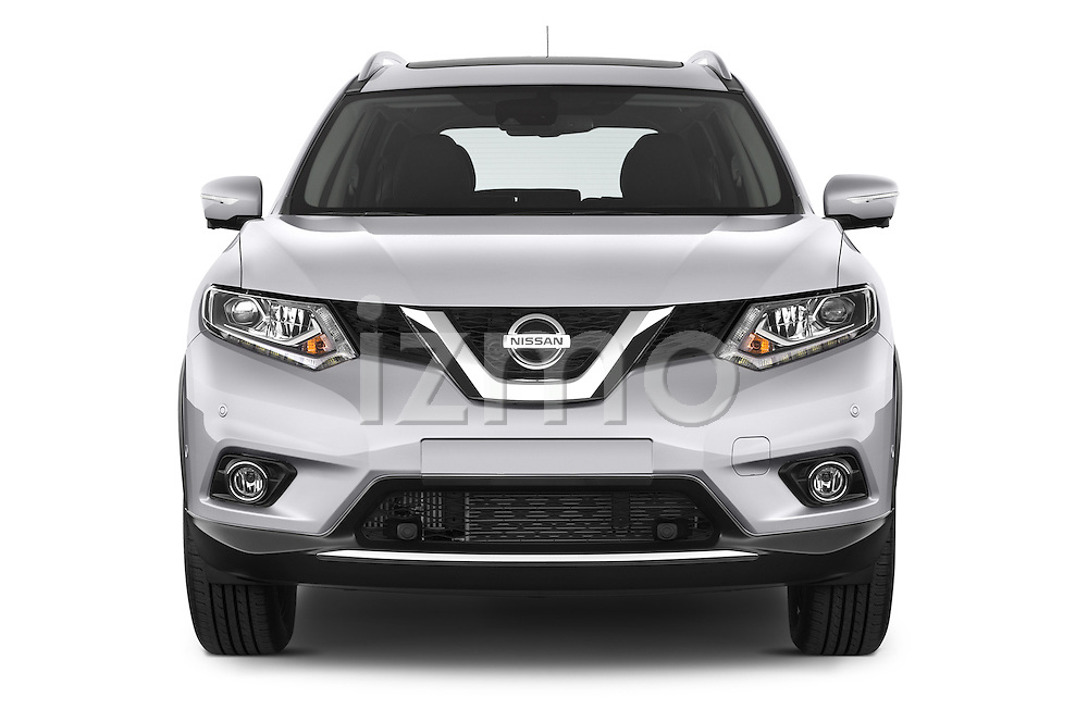 Car photography straight front view of a 2014 Nissan X-TRAIL Tenka 5 Door SUV 2WD Front View