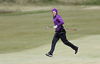 Sunday 31st May 2015; Danny Willett, England, runs across the fairway to watch his approach to the 18th green<br /> <br /> Dubai Duty Free Irish Open Golf Championship 2015, Round 4 County Down Golf Club, Co. Down. Picture credit: John Dickson / DICKSONDIGITAL