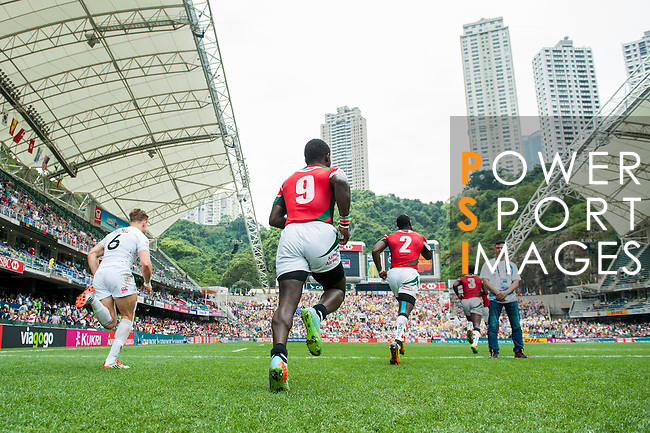 Spain vs Zimbabwe during the HSBC Sevens Wold Series Qualifier match as part of the Cathay Pacific / HSBC Hong Kong Sevens at the Hong Kong Stadium on 28 March 2015 in Hong Kong, China. Photo by Xaume Olleros / Power Sport Images