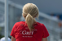 Sarasota. Florida USA.  Rowing Tea Shirt. &quot;Grit We Are Rowers&quot;. 2017 World Rowing Championships, Nathan Benderson Park<br />