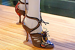 Shoes shown at the Catherine Martin and Muccia Prada Dress Gatsby display at Prada store in SOHO, NYC May 4, 2013.