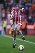 30th September, bet365 Stadium, Stoke-on-Trent, England; EPL Premier League football, Stoke City versus Southampton; Stoke City's Peter Crouch chases the ball