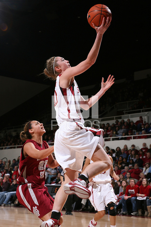 28 December 2007: Hannah Donoghe during Stanford's 105-47 win over Washington State at Maples Pavilion in Stanford, CA.