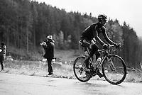 Jeremy Cornu (FRA/Direct Energie) up the Col du Rosier<br /> <br /> 102nd Li&egrave;ge-Bastogne-Li&egrave;ge 2016