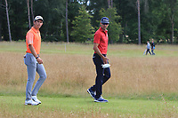 Lucas Herbert (AUS) and Rafa Cabrera Bello (ESP) on the 11th during Round 2 of the Aberdeen Standard Investments Scottish Open 2019 at The Renaissance Club, North Berwick, Scotland on Friday 12th July 2019.<br /> Picture:  Thos Caffrey / Golffile<br /> <br /> All photos usage must carry mandatory copyright credit (© Golffile | Thos Caffrey)
