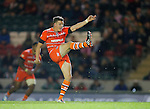 Freddie Burns in action for Leicester Tigers - Rugby Union - Leicester Tigers vs Cardiff Blues - pre-season friendly - Welford Road Leicester - 29th August 2014 - Picture - Malcolm Couzens/Sportimage