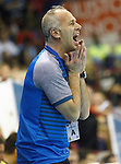 Bosnia Herzegovina's coach Bilal Suman during 2018 Men's European Championship Qualification 2 match. November 2,2016. (ALTERPHOTOS/Acero)