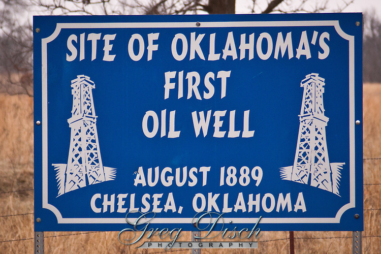 In 1889, a wildcatter named Edward Byrd secured mineral leases from the Cherokee Nation. He drilled his first well near present-day Chelsea in Rogers County in 1890, and found oil at a depth of only 36 feet. His well produced about a half a barrel a day but his efforts were hampered severely by government regulation, inadequate transportation facilities and the lack of a readily accessible market. His Chelsea well is still celebrated as Oklahoma's first oil well.