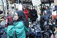 November 21, 2011, following the decision handed down this morning's by Ontario Superior Court judge David Brown, upholding the Occupy Toronto tent camp eviction, lawyer Susan Ursel addresses the noon hour general assembly today at St. James Park Toronto.
