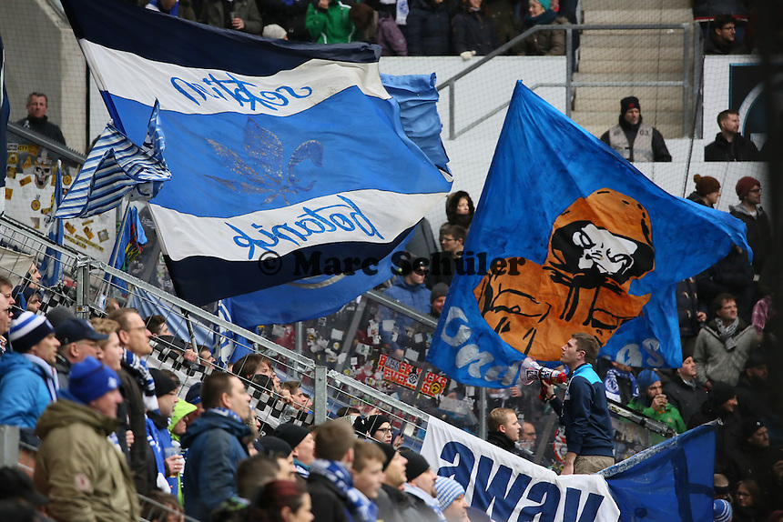 Darmstädter Fans - 1. FSV Mainz 05 vs. SV Darmstadt 98, Coface Arena