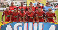 TUNJA - COLOMBIA, 22-07-2018: Patriotas Boyacá e Independiente Santa Fe en partido por la fecha 1 de la Liga Águila II 2018 realizado en el estadio La Independencia de Tunja. / Patriotas Boyaca and Independiente Santa Fe in match for the date 1 of Aguila League II 2018 played at La Independencia stadium in Tunja. Photo: VizzorImage / Jose Palencia / Cont