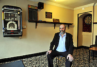 Danny Healy-Rae pictured in his pub in Kilgarvan village in County Kerry where the juke box and darts are still popular.<br /> Picture by Don MacMonagle<br /> Story by Majella O&quot;Sullivan