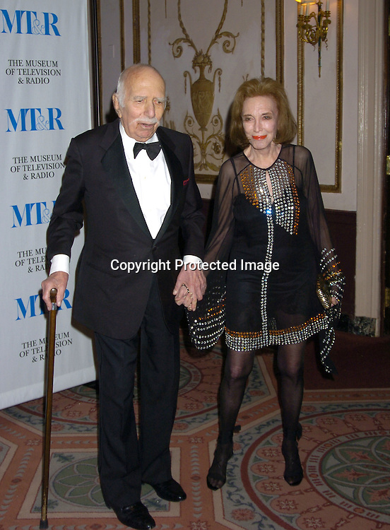 David and Helen Gurley Brown ..at The Museum of TV and Radio New York Gala  honoring  Merv Griffin on May 26, 2005 at The Waldorf Astoria Hotel...Photo by Robin Platzer, Twin Images