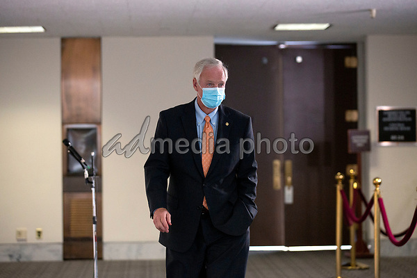 United States Senator Ron Johnson (Republican of Wisconsin) departs the Senate GOP Policy Luncheons at the Hart Senate Office Building  in Washington D.C., U.S., on Wednesday, May 20, 2020.  Credit: Stefani Reynolds / CNP/AdMedia