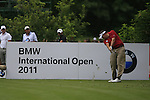 Anthony Wall (ENG) tees off on the par3 8th tee during Day 1 of the BMW International Open at Golf Club Munchen Eichenried, Germany, 23rd June 2011 (Photo Eoin Clarke/www.golffile.ie)